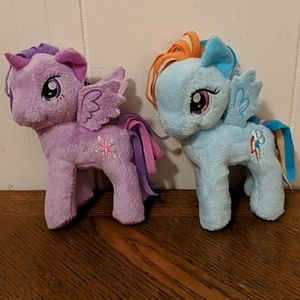 Twilight sparkle and rainbow dash 6in plush ponies